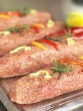 Kebab i en butchery royaltyfria bilder