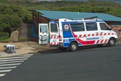 Förberedd paramedicinsk bil Arkivfoto