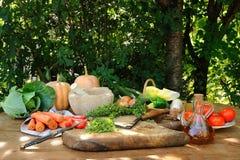 förberedda grönsaker royaltyfria foton