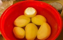Förberedda grönsaker i vatten Royaltyfri Bild
