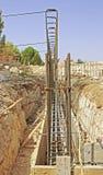 Förberedelse för byggande fundament Arkivfoton