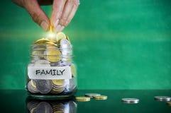 Förberedelse för det framtida och finansiella begreppet Arkivbild