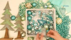 Förberedelse för jul lager videofilmer