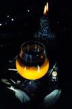 Förberedelse för magisk dryck Allhelgonaaftondrinkar Arkivfoto