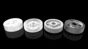 förberedelse och printing för kugghjul 3d Arkivbild