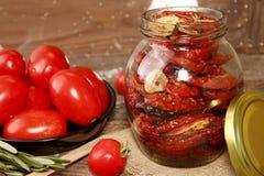 Förberedelse torkade tomater Royaltyfria Bilder