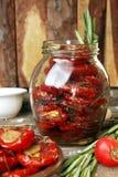 Förberedelse torkade tomater Royaltyfri Foto