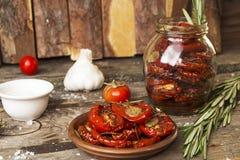 Förberedelse torkade tomater Royaltyfria Foton