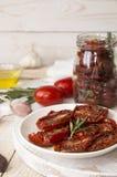Förberedelse torkade tomater Royaltyfri Bild