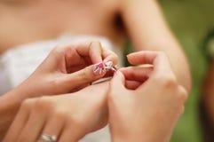 förberedelsebröllop Royaltyfria Bilder