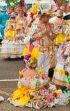 Förberedelsen för karneval ståtar, Santa Cruz, 2013 Royaltyfria Bilder