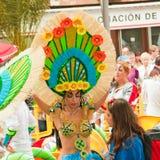 Förberedelsen för karneval ståtar, Santa Cruz, 2013 Royaltyfria Foton