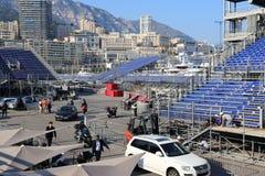 Förberedelser för den Monaco granda prixen 2015 Fotografering för Bildbyråer