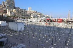 Förberedelser för den Monaco granda prixen 2015 Royaltyfri Foto