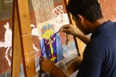 Förberedelser för Pohela Boishakh det Bengali nya året i Dhaka Royaltyfria Foton