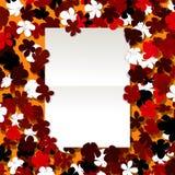 Blom- design för meddelande Arkivbild