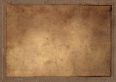 förbigådd gammal parchmentrektangel Royaltyfria Foton