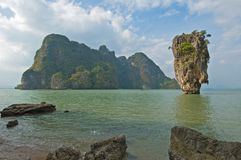 förbind ön james thailand arkivfoton
