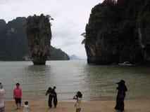 förbind ön james thailand Fotografering för Bildbyråer