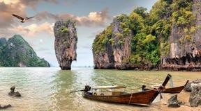 förbind ön james thailand Royaltyfri Fotografi