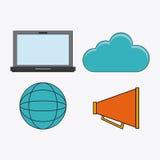 Förbind den sociala nätverkssymbolen för kommunikationer Royaltyfri Fotografi