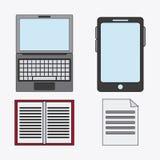 Förbind den sociala nätverkssymbolen för kommunikationer Fotografering för Bildbyråer