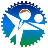 Förbind logoen Arkivfoto