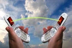 förbind mobila telefoner Fotografering för Bildbyråer