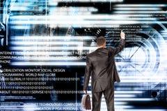 förbind Ny datateknik för utveckling anslutning Arkivbild