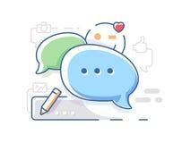 Förbind och prata att prata vektor illustrationer