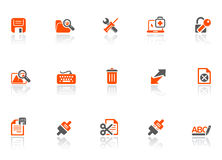förbind symbolsrengöringsduken stock illustrationer