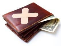 förbinda plånboken Arkivfoton