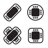 Förbinda symbolen i fyra variationer Vektor EPS 10 Arkivfoton