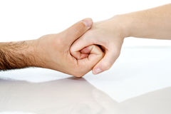 förbindande hand till Royaltyfri Fotografi