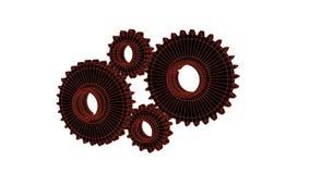 Förbindande kugghjul, 3d framför vektor illustrationer