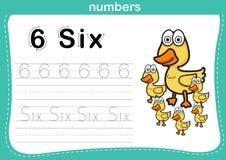 Förbindande prick och tryckbar nummerövning Arkivfoto