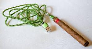 Förbindelse av en kabel royaltyfri fotografi