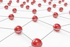 förbindelseabstrakt bollar gjorde red för nätverk ut Royaltyfri Bild
