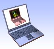 förbindelsebärbar dator till glåmigt Royaltyfria Foton