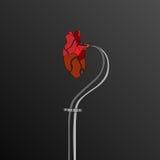 Förbindelsebakgrund för konstgjord hjärta Arkivfoto