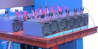 Förbindelsebatterier. Royaltyfri Foto