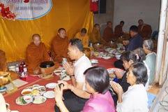 Förbindelseceremoni av thailändskt folk i norr counrty Arkivfoto