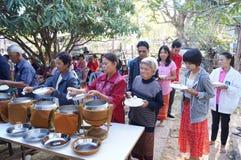 Förbindelseceremoni av thailändskt folk i norr counrty Royaltyfria Foton