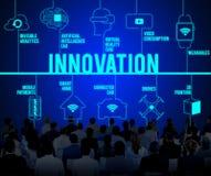 Förbindelseinnovation surrar teknologibegrepp arkivbilder