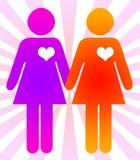 förbindelsen samma könsbestämmer royaltyfri illustrationer
