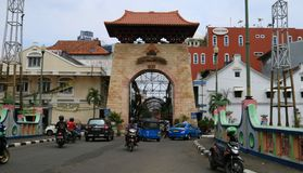 Förbipasserande Baroe Jakarta Arkivbilder