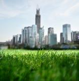 Förbise den framtida staden Arkivbilder