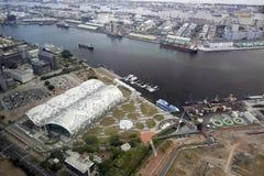 Förbise den nya kaohsiung utställningen och konventcentret Royaltyfri Foto