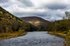 Förbise en dal på hösten Fotografering för Bildbyråer
