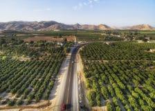 Förbise sikt av citronlilla viken, USA Arkivfoton